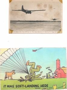 glider postcard taken on Camp MacKall field