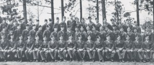 187th, Headquarters Company, 11th Airborne Division - Smitty is in the back row, 5th from the right