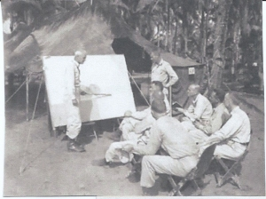 Gen. Swing & staff at Manarawat, Leyte