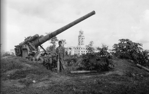 Japanese gun from a super-battleship in Manila