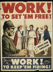 Wartime poster, Loss Banos