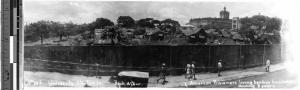 U.S. POWs behind Santo Tomas