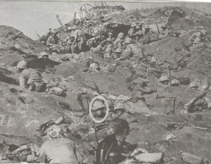 Lt. Joseph Dryer Jr. (in circle) Iwo Jima
