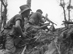 Australian soldiers at Wewak