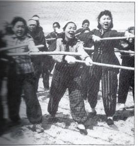 "women posed happily in propaganda photo as beachfront ""kamikazes"""