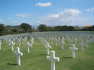 Graves of the fallen, Manila U.S. cemetery today