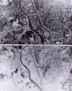 navigator's view, Nagasaki bombing