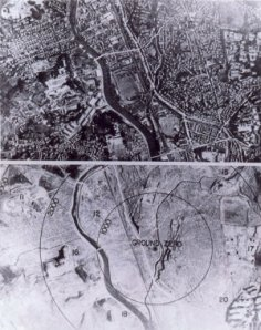navigator's view, Nagasaki bombing