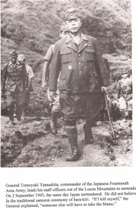 General Tomoyuki Yamashita as he surrenders - click to enlarge and read