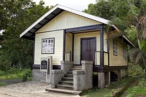 Home Economics building (today) site of surrender