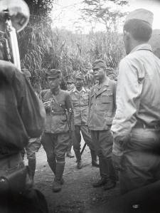 Initial American contact with Gen. Yamashita