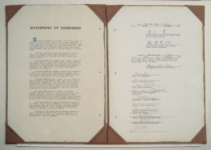 Japan's instrument of surrender documents, 2 Sept. 1945