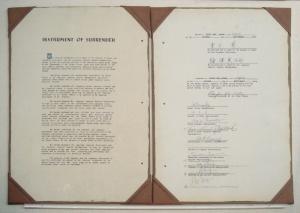 Japan's instrument of surrender documents, 2 Sept. 1945