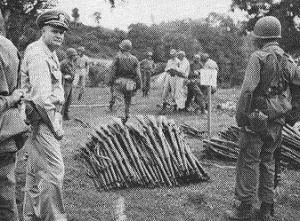 Japanese weapons collected on Cebu, P.I.