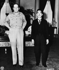 MacArthur and Hirohito meeting