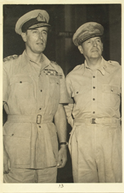 Lord Louis Mountbatten with MacArthur