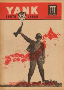 Yank magazine Sept. 1945 (notice the helmet stenciling)
