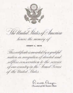 Letter from Pres. Reagan