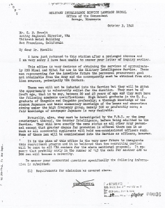 Kai Rasmussen recruitment letter - date  6/14/74  at bottom is when this letter was de-classified