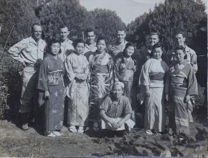 Occupation 1945 - Everett Smith on far right