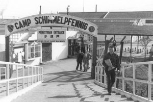 Front gate of HQ Camp Schimmelpfennig