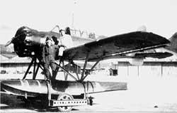 "pilot Nobuo Fujita and his ""Glen"""
