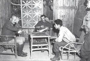 interrogating a Japanese general