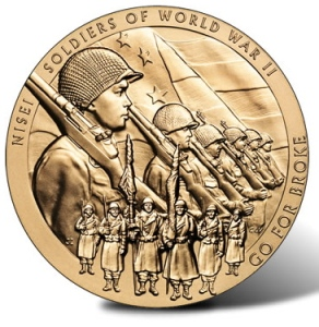 Nisei Soldier of WWII Bronze medal