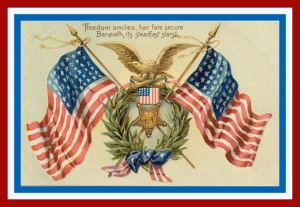 vintage-double-american-flags-eagle1