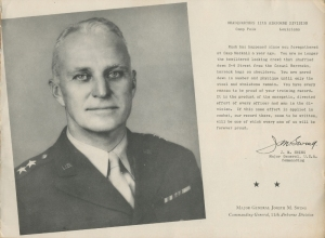 Letter from Gen. Swing to his men