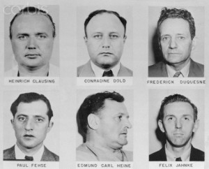 FBI mug shots, March 1944, six of 33 in Duquesne spy ring
