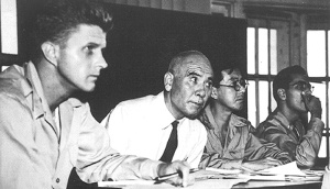 Gen. Homma with his lawyers