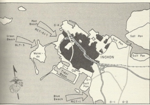 Inchon invasion map
