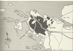Inchon invasion map