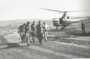 casualty evacuation, Sikorski S-51 in background