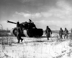 M26 Pershing tank w/ 1st Marines