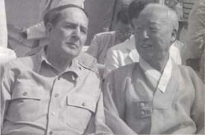 MacArthur and Sygman Rhee