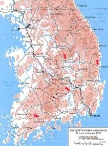 North Korean invasion 25 July - 4 August 1950