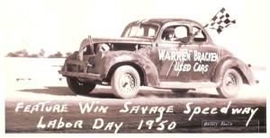 Nick Savage racing car 1950