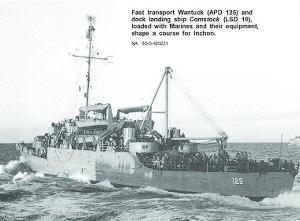 Transport Wantuck sets out loaded w/ Marines