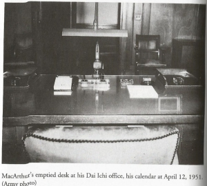MacArthur's desk - as he left it.