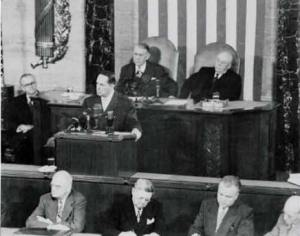 MacArthur's farewell speech to Congress