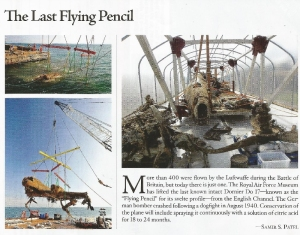 "the ""Flying Pencil"" (Archaeology magazine)"