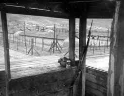 POW camp, view from guard tower