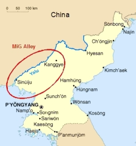 MiG Alley circled