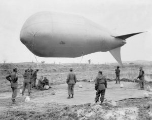 Company C/14th Engineer Combat Batt./8th US Army w/ a barrage balloon M-1 VLA (35'x14') to mark the perimeter of the Panmunjon Armistice Conference. 22 March 1952