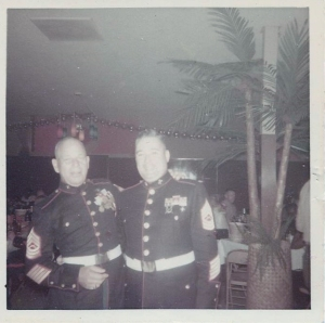 O'Leary & Jay Jenner at NCO club - El Toro (the Marines made him lose weight shortly after this pix)
