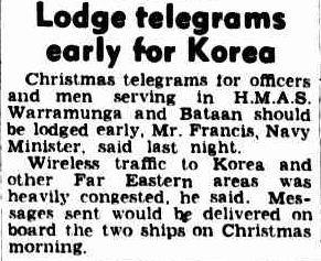 1950 Australian notice