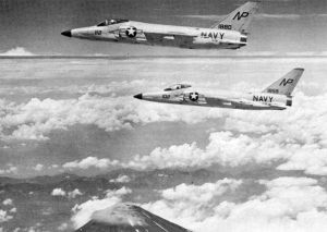 F11Fs VF-211 over Japan 1959