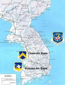 Korean map, 7th Air Force